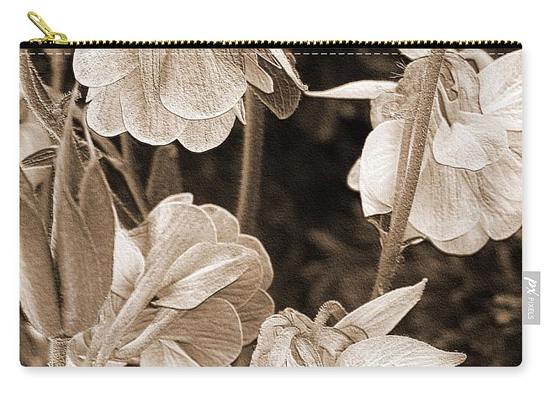 Double Columbine Carry-all Pouch featuring the photograph Double Columbine Named Light Blue by J McCombie