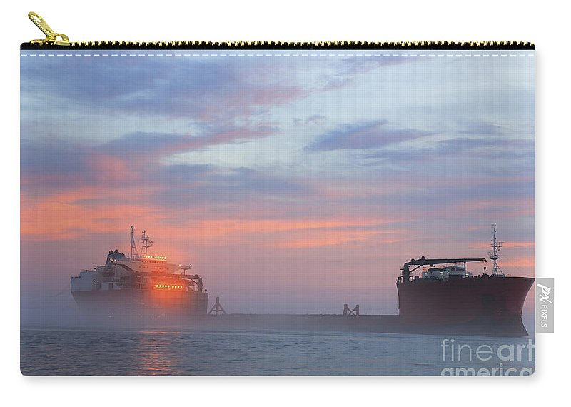 Ghost Ship Carry-all Pouch featuring the photograph Ghost Ship Glowing by Dale Powell