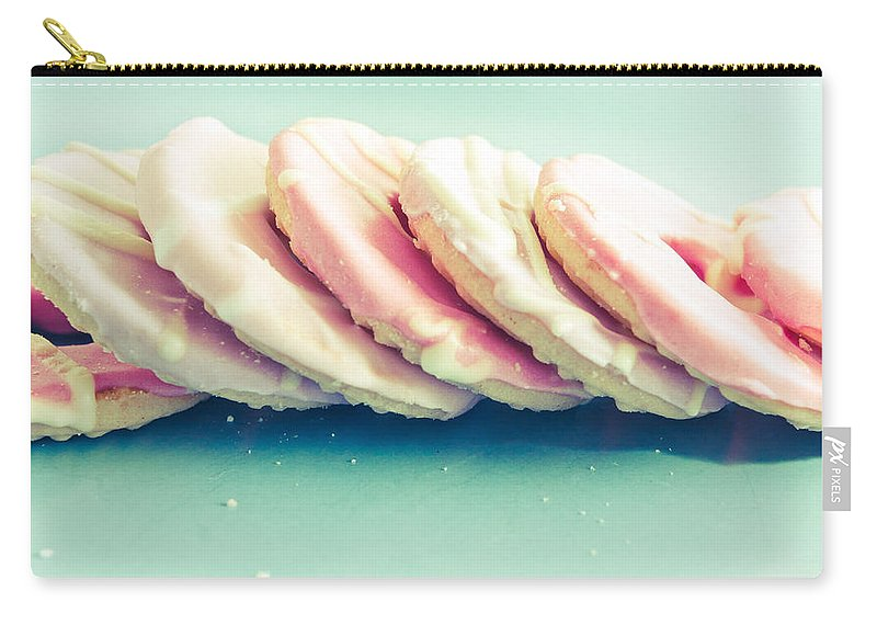 Background Carry-all Pouch featuring the photograph Pink Cookies by Tom Gowanlock