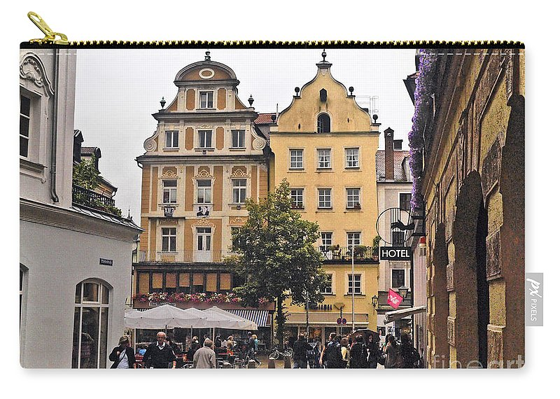 Kohlenmarkt Carry-all Pouch featuring the photograph Regensburg Germany by Howard Stapleton