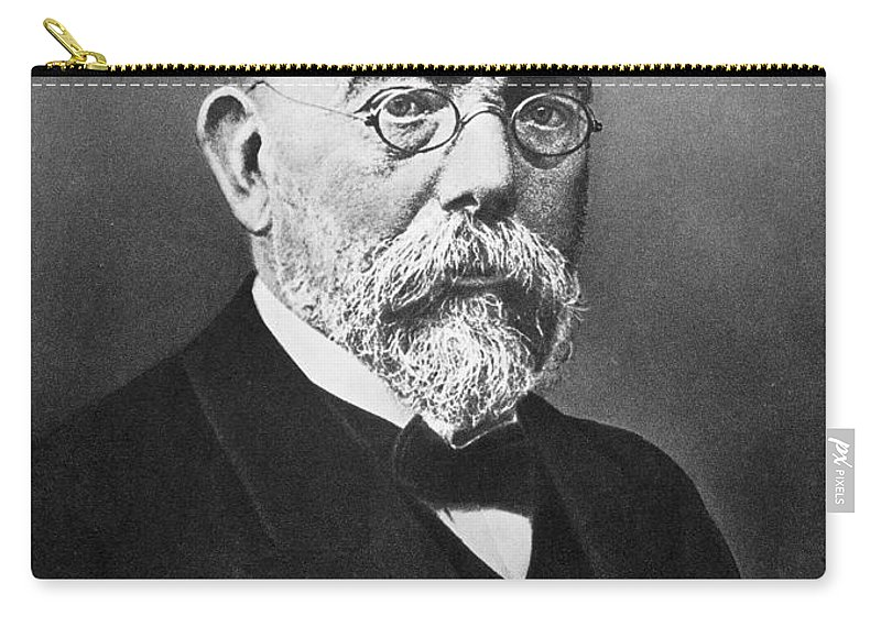 19th Century Carry-all Pouch featuring the photograph Robert Koch (1843-1910) by Granger