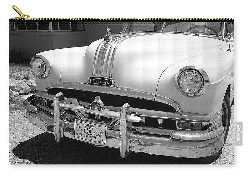 66 Carry-all Pouch featuring the photograph Route 66 - Classic Car by Frank Romeo