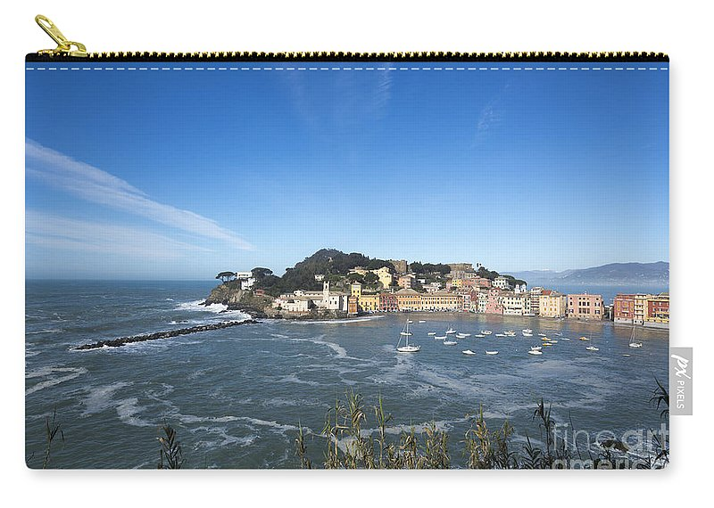 Village Carry-all Pouch featuring the photograph Sestri Levante by Mats Silvan