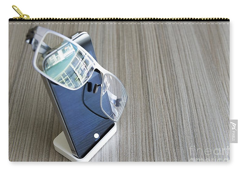 Telephone Carry-all Pouch featuring the photograph Telephone by Mats Silvan