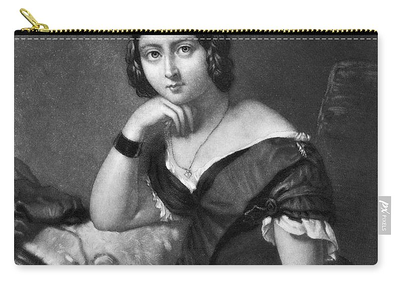 1840 Carry-all Pouch featuring the painting Victoria (1819-1901) by Granger