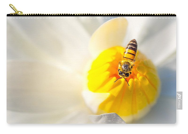 Bee Carry-all Pouch featuring the photograph Water Lily by Dennis Goodman