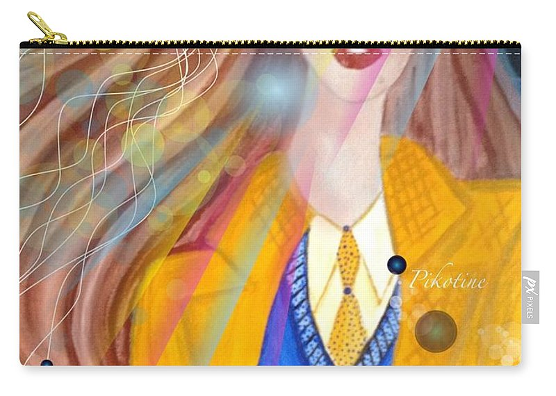 Pikotine Carry-all Pouch featuring the painting Pikotine Art by Pikotine Art