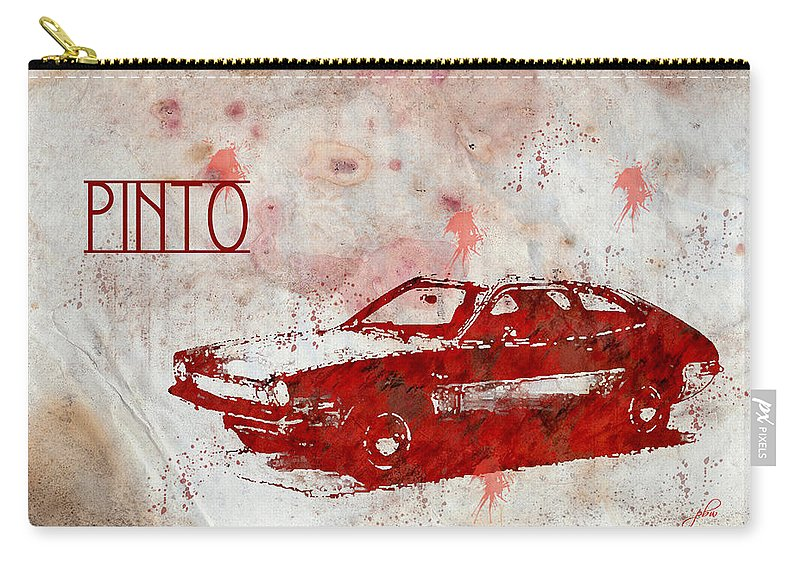 Feature Art Carry-all Pouch featuring the digital art 71 Pinto by Paulette B Wright