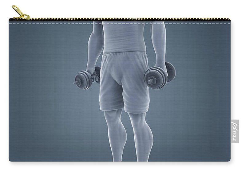 Full View Carry-all Pouch featuring the photograph Exercise Workout by Science Picture Co