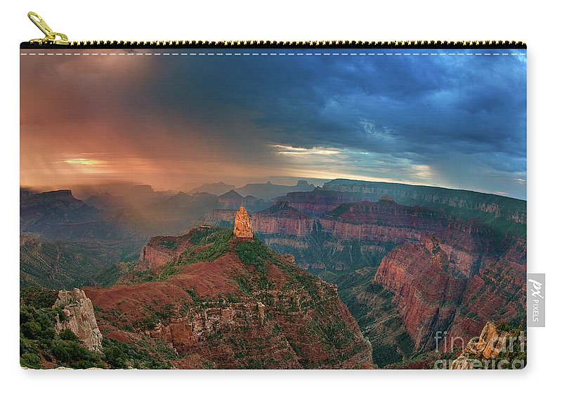 North America Carry-all Pouch featuring the photograph 749220321 North Rim Grand Canyon Arizona by Dave Welling