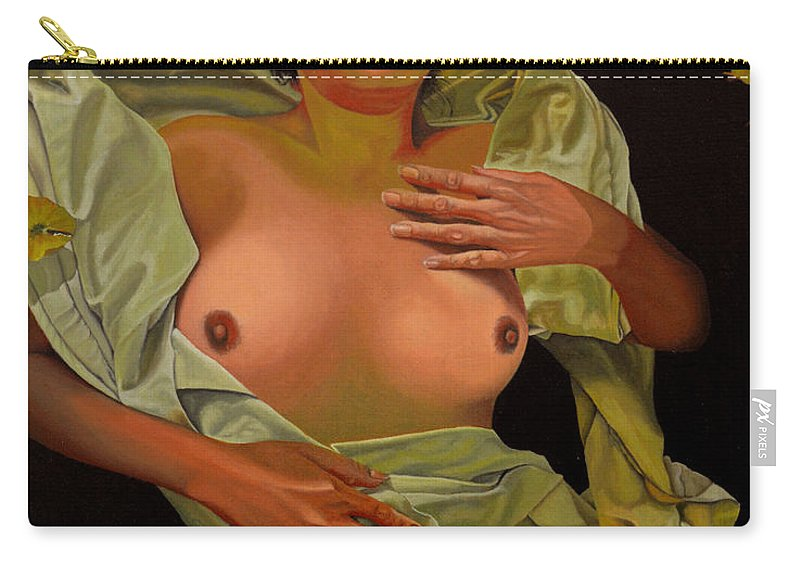 Conceptual Carry-all Pouch featuring the painting 8 30 A.m. by Thu Nguyen