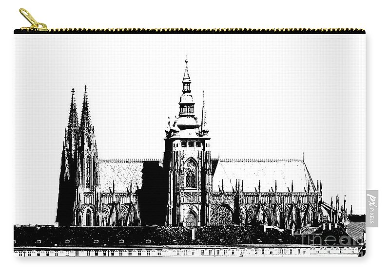 Hradcany Carry-all Pouch featuring the digital art Cathedral Of St Vitus by Michal Boubin