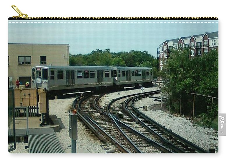 Illinois Carry-all Pouch featuring the photograph Cta's Retired 2200-series Railcar by Alfie Martin