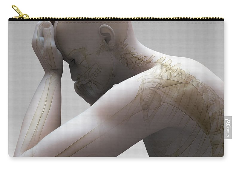 Biomedical Illustration Carry-all Pouch featuring the photograph Depression by Science Picture Co