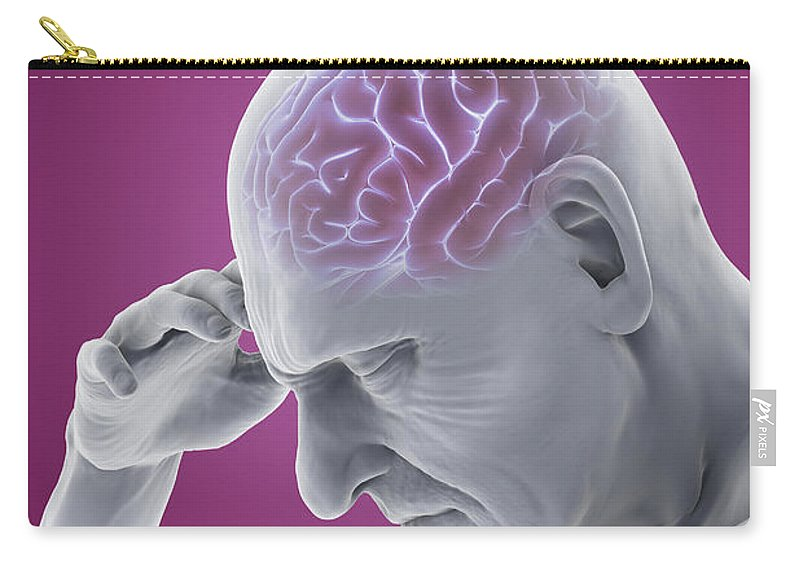 Digitally Generated Image Carry-all Pouch featuring the photograph Head Ache by Science Picture Co