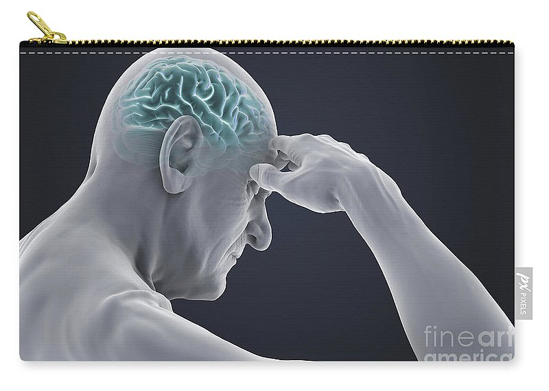 Head Pain Carry-all Pouch featuring the photograph Head Pain by Science Picture Co