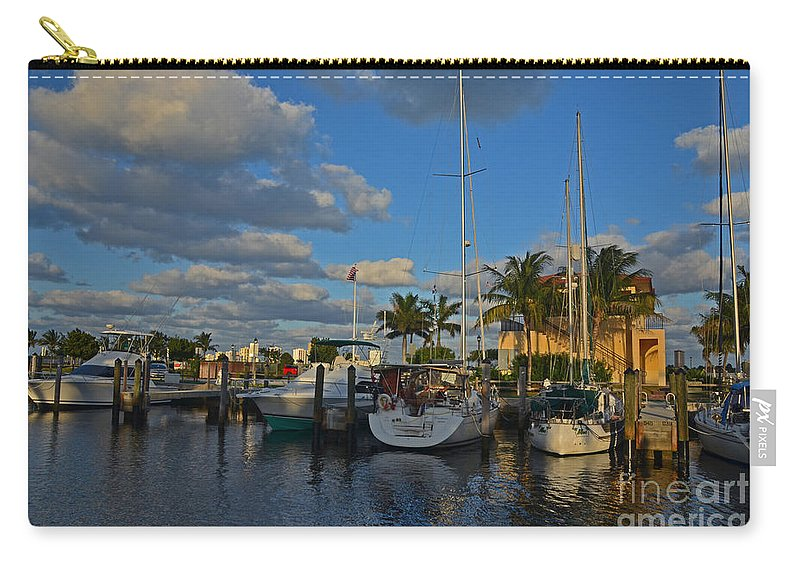 Carry-all Pouch featuring the photograph 8- Lake Park Marina by Joseph Keane