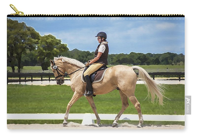Rocking Horse Stables Carry-all Pouch featuring the photograph Rocking Horse Stables by Rich Franco