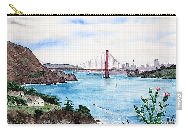 San Francisco Carry-all Pouch featuring the painting San Francisco by Masha Batkova