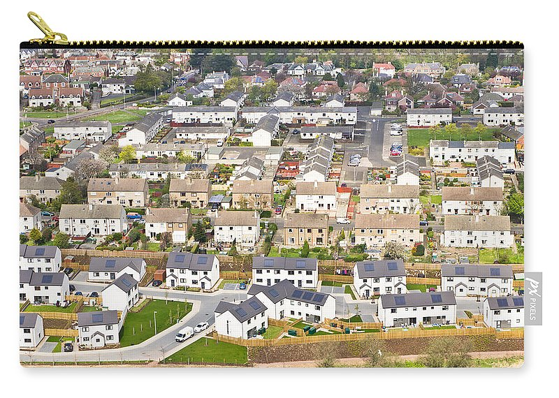 Area Carry-all Pouch featuring the photograph Scottish Houses by Tom Gowanlock
