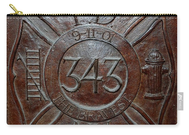 Fdny Carry-all Pouch featuring the photograph 9 11 01 F D N Y 343 by Rob Hans