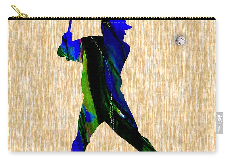 Baseball Carry-all Pouch featuring the mixed media Baseball by Marvin Blaine