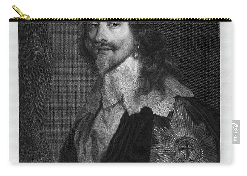 1630s Carry-all Pouch featuring the painting Charles I (1600-1649) by Granger