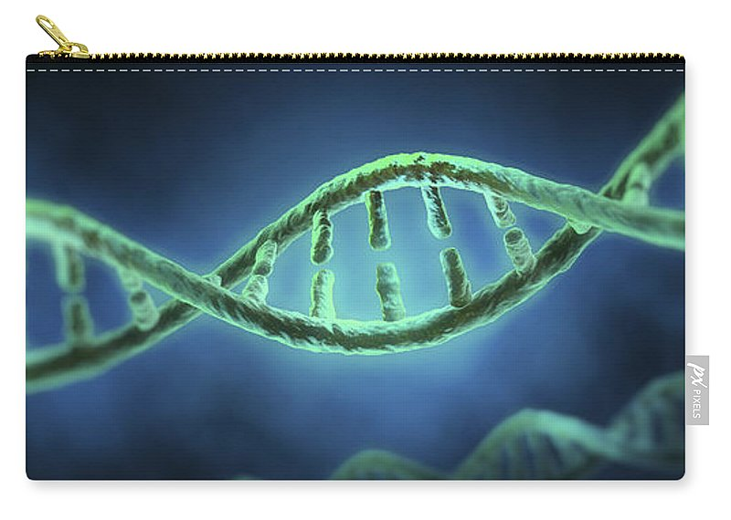 Digitally Generated Image Carry-all Pouch featuring the photograph Dna by Science Picture Co