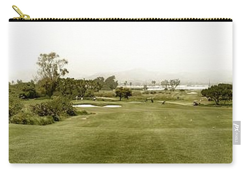 Panoramic Carry-all Pouch featuring the photograph Golf by Henrik Lehnerer