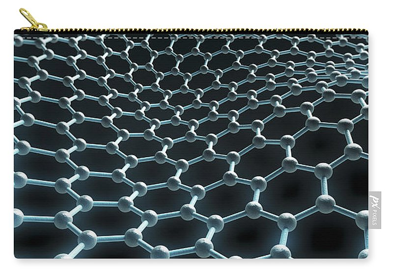 Carbon Atom Carry-all Pouch featuring the photograph Graphene Structure by Science Picture Co