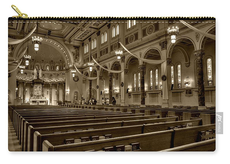 Mn Church Carry-all Pouch featuring the photograph Holy Cross Catholic Church by Amanda Stadther