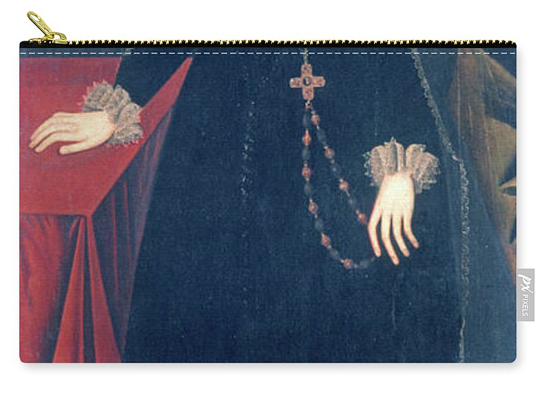 1578 Carry-all Pouch featuring the painting Mary Queen Of Scots by Granger