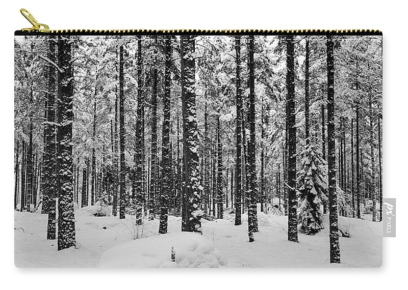 Finland Carry-all Pouch featuring the photograph Pine Forest Winter by Jouko Lehto