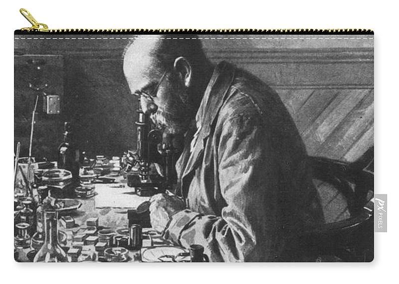 1897 Carry-all Pouch featuring the photograph Robert Koch (1843-1910) by Granger