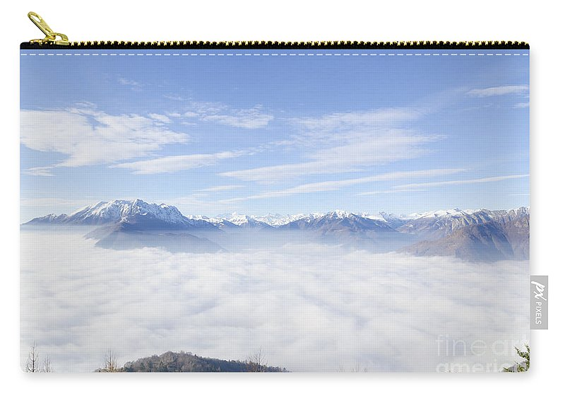 Mountains Carry-all Pouch featuring the photograph Sea Of Fog by Mats Silvan