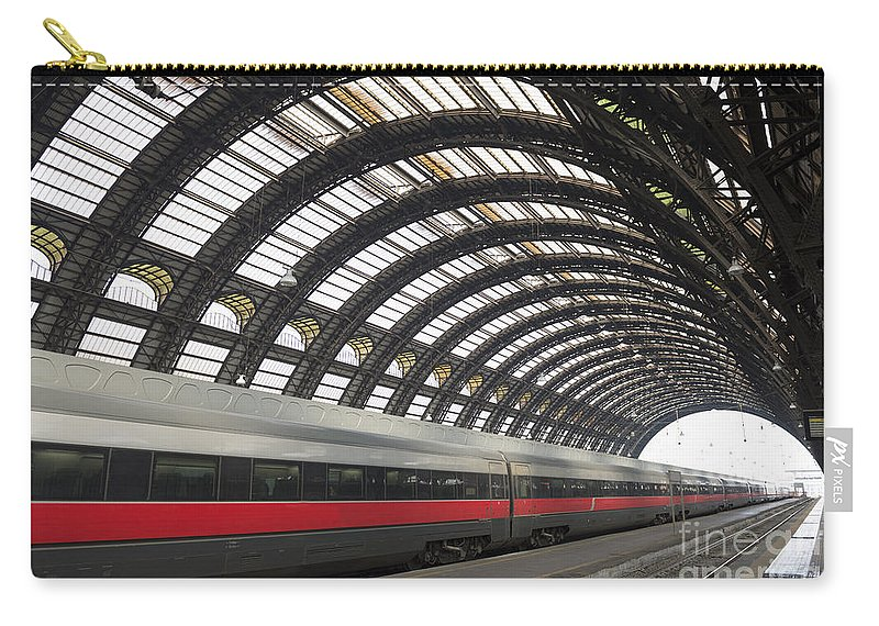 Train Station Carry-all Pouch featuring the photograph Train Station by Mats Silvan
