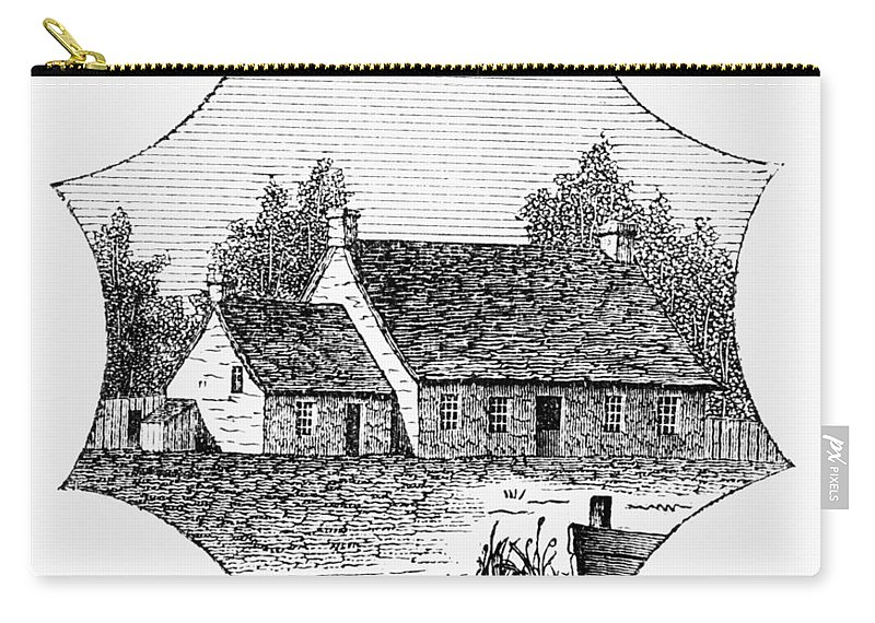 1780 Carry-all Pouch featuring the photograph Washington: Headquarters by Granger