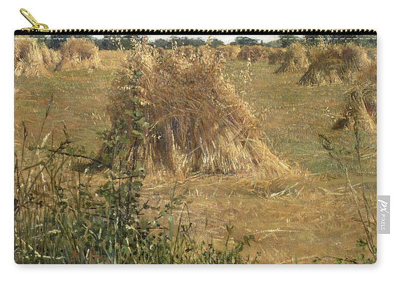 Sheaf Carry-all Pouch featuring the painting 94 Degrees In The Shade, 1876 by Sir Lawrence Alma-Tadema