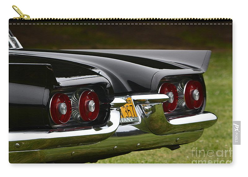 Black Carry-all Pouch featuring the photograph Thunderbird by Dean Ferreira