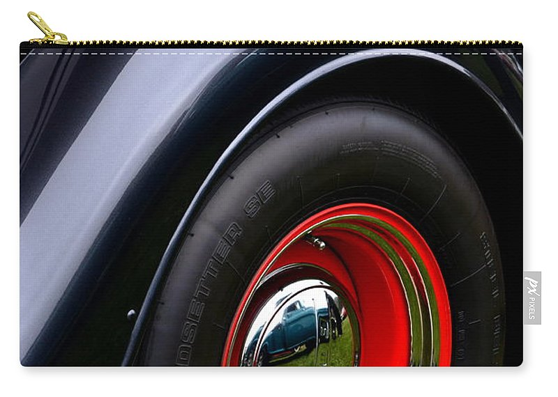Ford Carry-all Pouch featuring the photograph 30's Classic Ford Pickup by Dean Ferreira