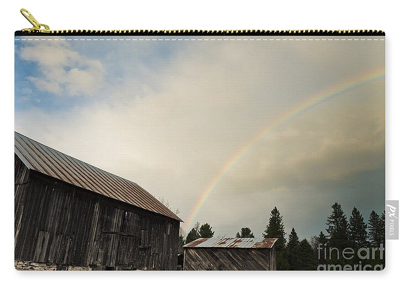 Rainbow Carry-all Pouch featuring the photograph A Barn O'gold by Cheryl Baxter