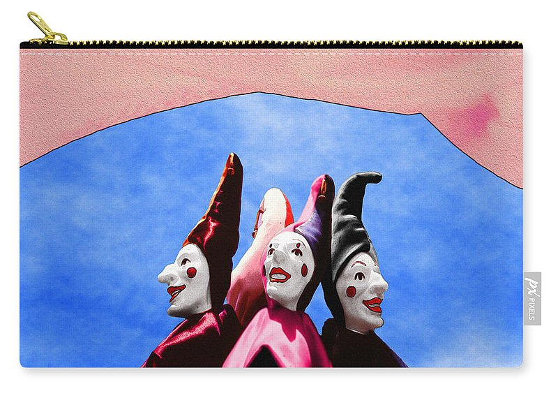 Comical Carry-all Pouch featuring the photograph A Bevy Of Jesters by Paul Wear