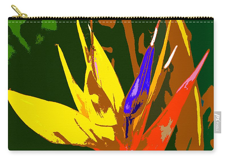 Bird Of Paradise Carry-all Pouch featuring the painting A Bird In Paradise by David Lee Thompson