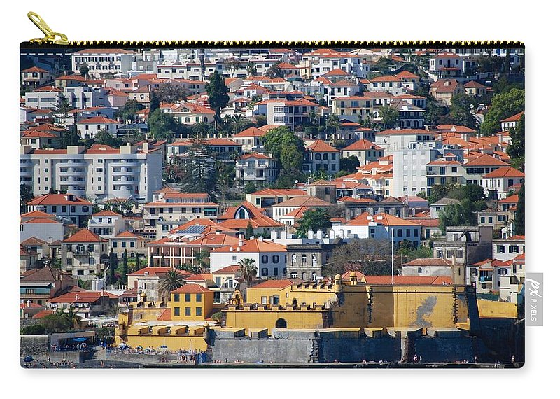 Funchal Carry-all Pouch featuring the photograph A Bit Of Funchal by Eric Tressler