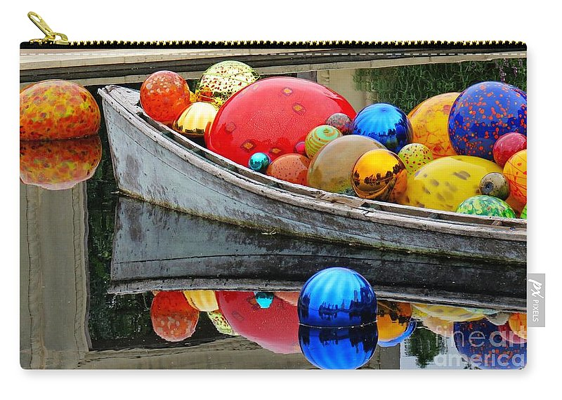 Boat Carry-all Pouch featuring the photograph A Boat Full Of Color by Gary Richards