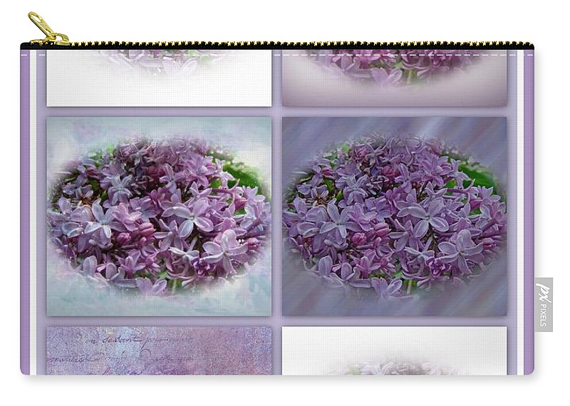 Lilac Carry-all Pouch featuring the photograph A Bouquet Of Lilacs by Mother Nature