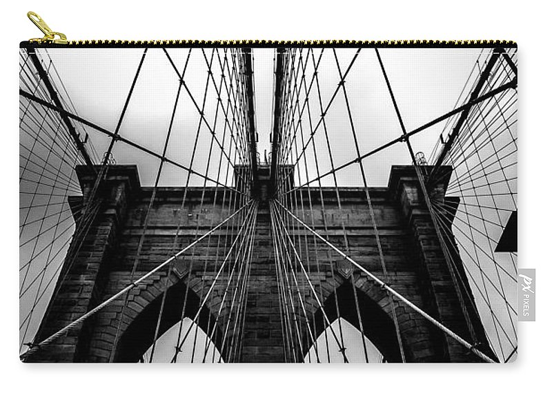 Brooklyn Bridge Arches Carry-all Pouch featuring the photograph A Brooklyn Perspective by Az Jackson