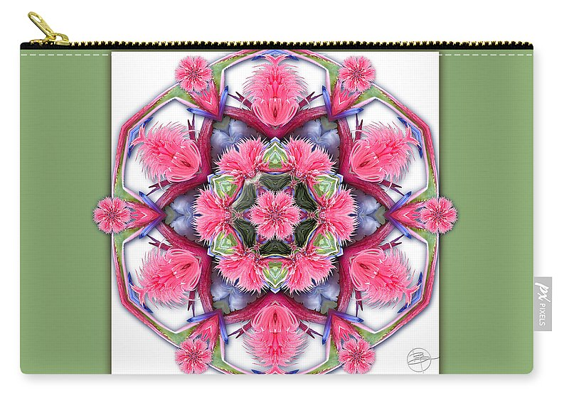 Nature Carry-all Pouch featuring the photograph A Burst Of Bromeliad by Karen Hochman Brown
