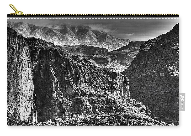 Landscape Carry-all Pouch featuring the photograph A Canyon Storm by Phyllis Denton