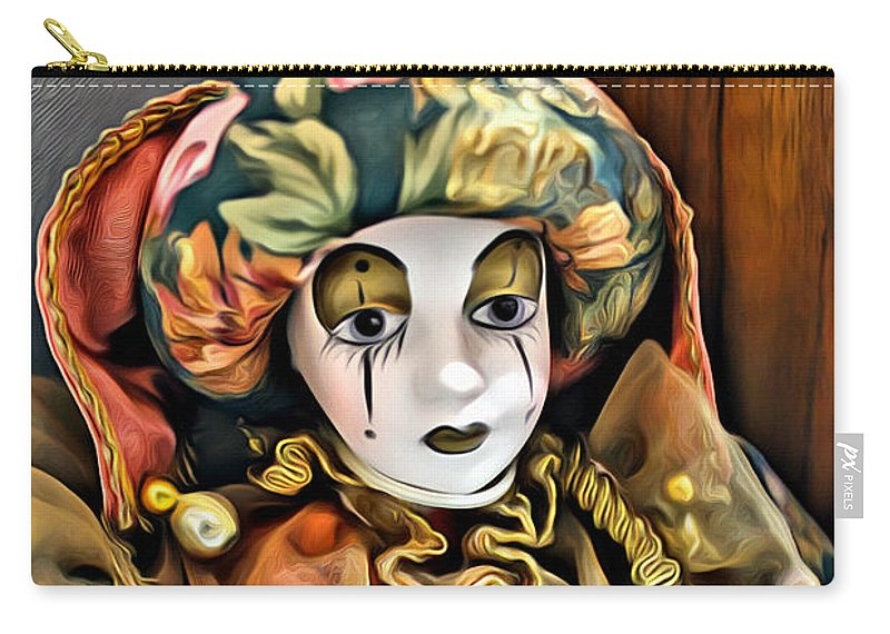 Clown Carry-all Pouch featuring the photograph Just A Sad Face by Carlos Diaz